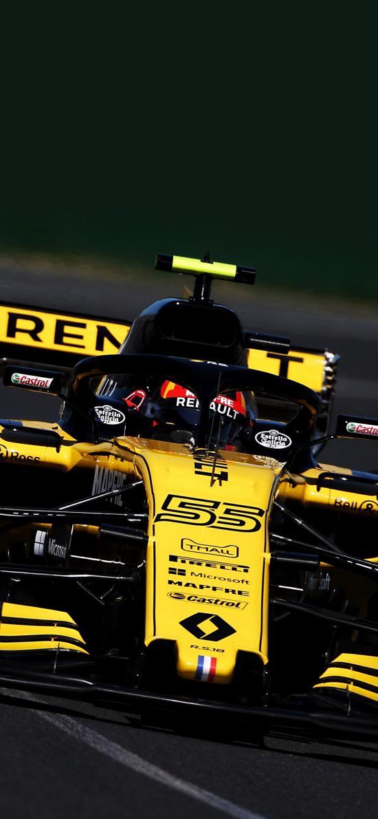F1赛车 炫酷 速度 赛道 法拉利 比赛 黄色