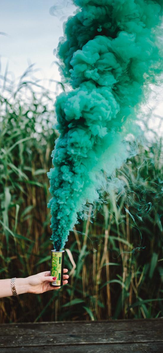 煙霧彈 綠色 信號