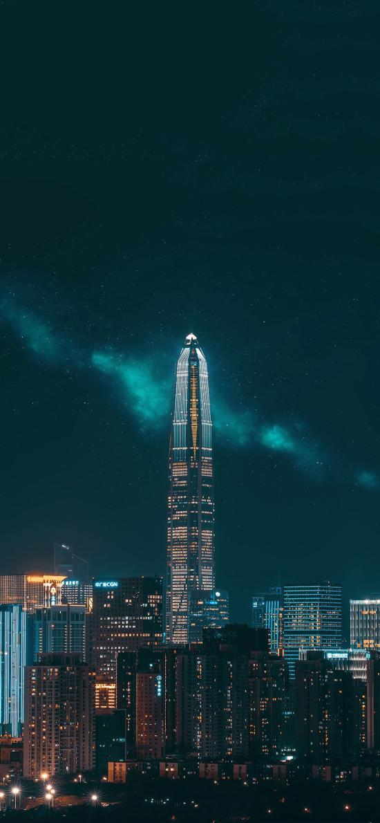深圳 城市 夜景 建筑 繁華 都市