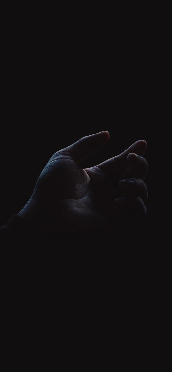 手部 特寫 暗黑