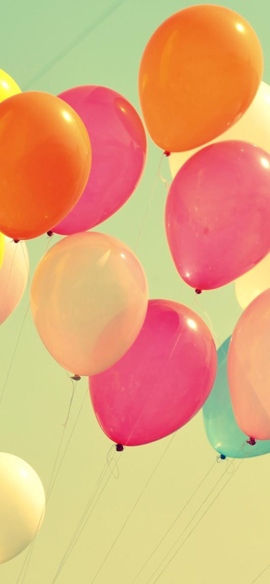 氣球 色彩 天空 復古 色調