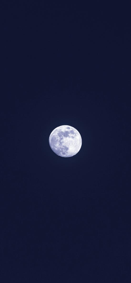 月亮 月球 夜晚  渾圓