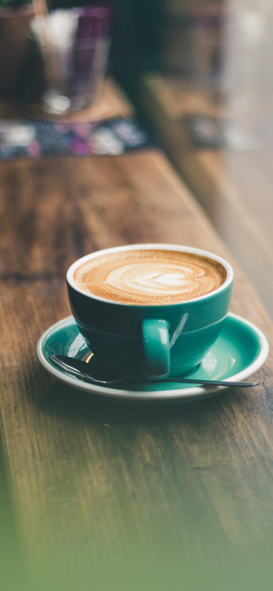 咖啡 杯具 拉花 木板