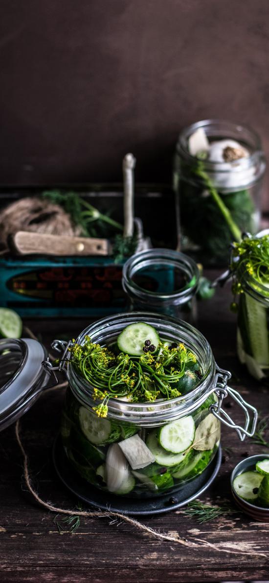 青瓜 玻璃罐 小黃瓜 腌制