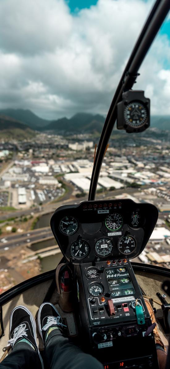 駕駛艙 飛機 儀表 高空 航空 飛行 城市