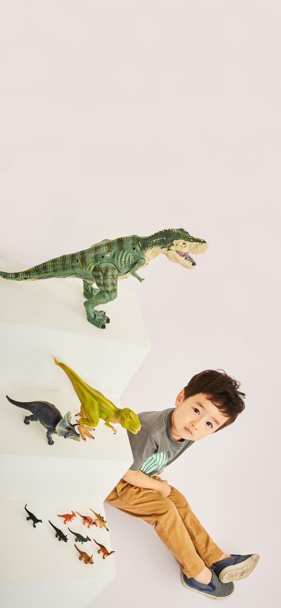 萌娃 小男孩 寫真 恐龍