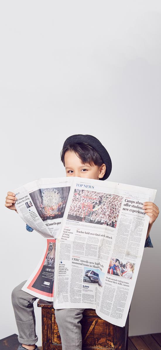 歐美 萌娃 寫真 報紙