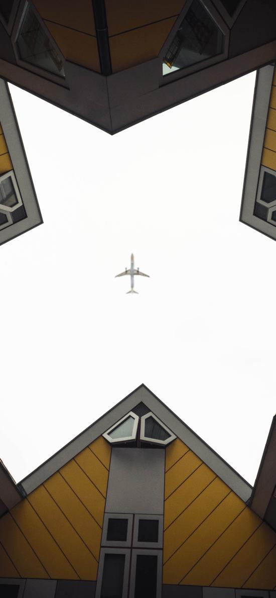 建筑 房屋 飛機 飛行