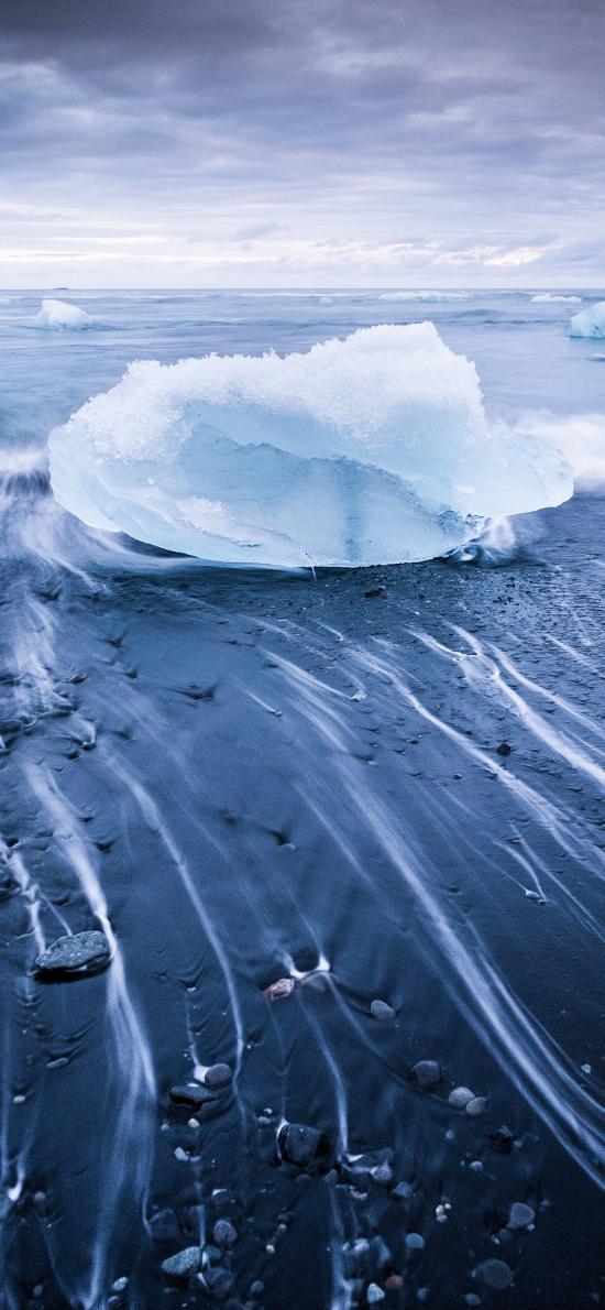 冰川河流 冰塊 寒冷