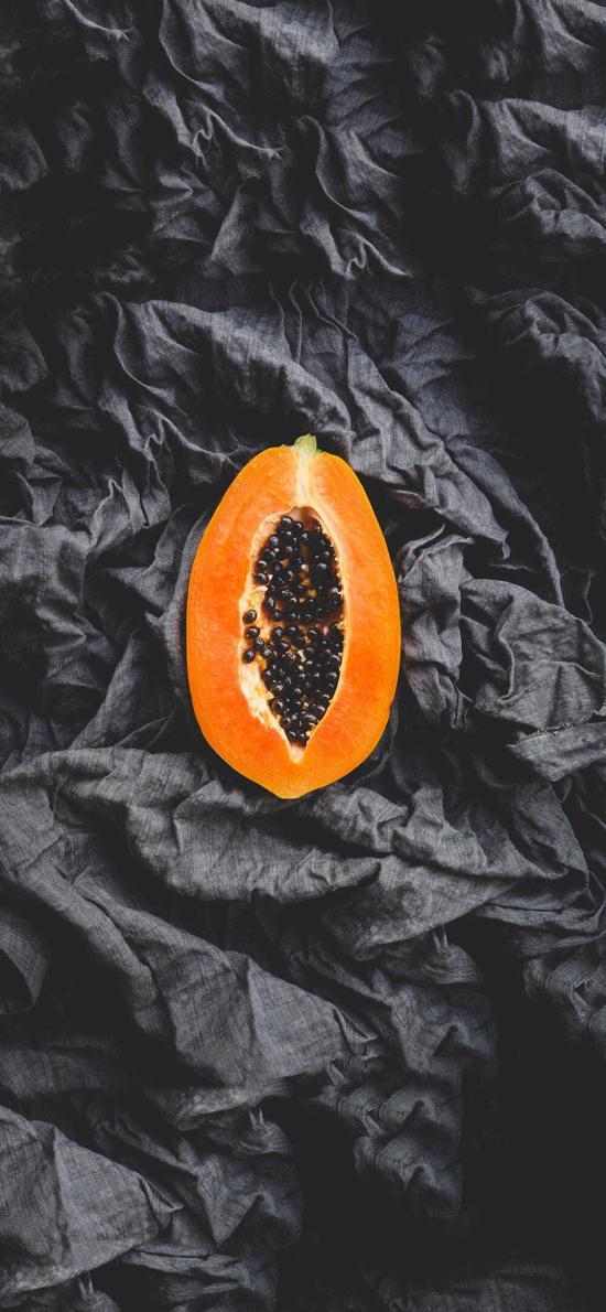 新鮮水果 木瓜 切開 木瓜籽