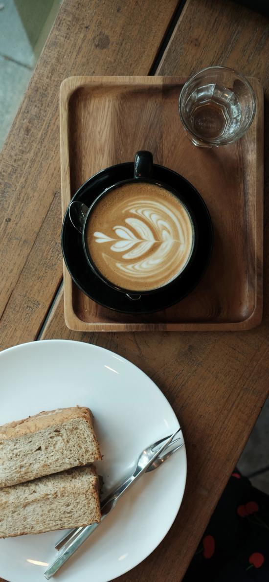 飲品 咖啡 面包 吐司