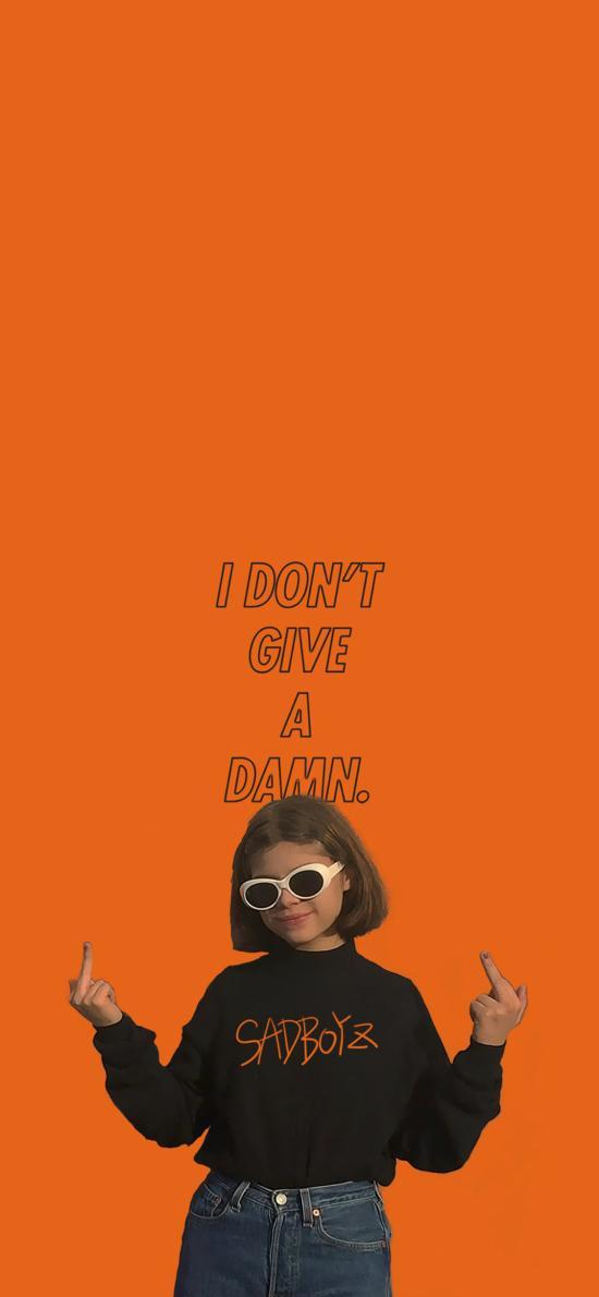 歐美 女孩 I don't give a damn