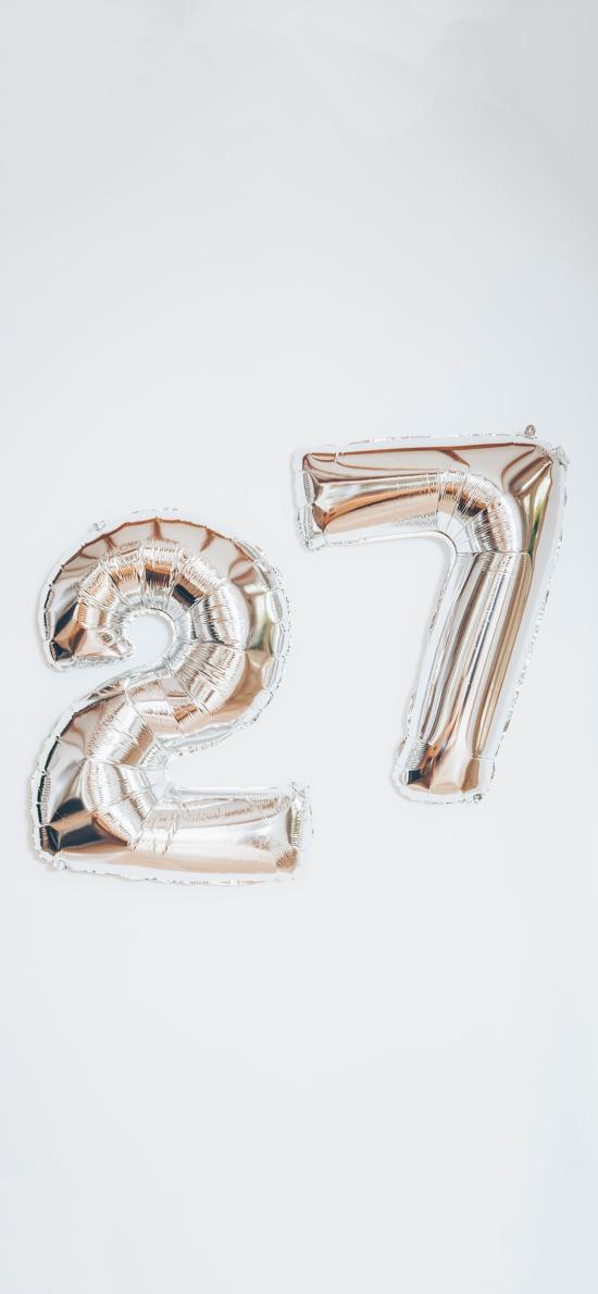 數字 氣球 27 阿拉伯數字