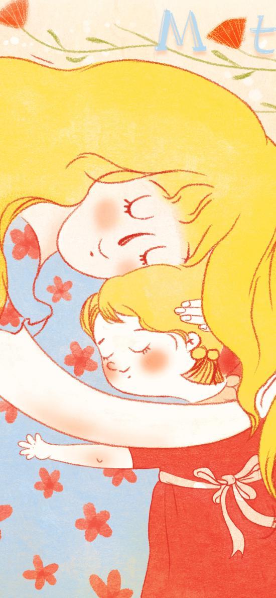 母親節 母女 擁抱 親情 媽媽