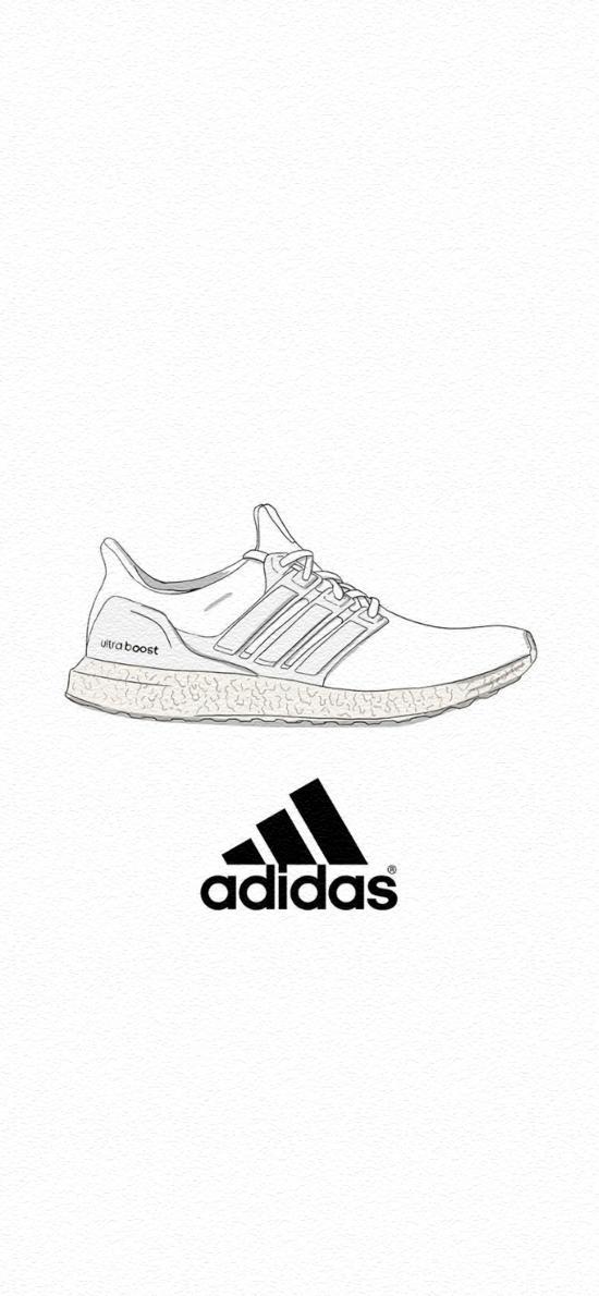 adidas 運動鞋 球鞋 品牌 logo 黑白