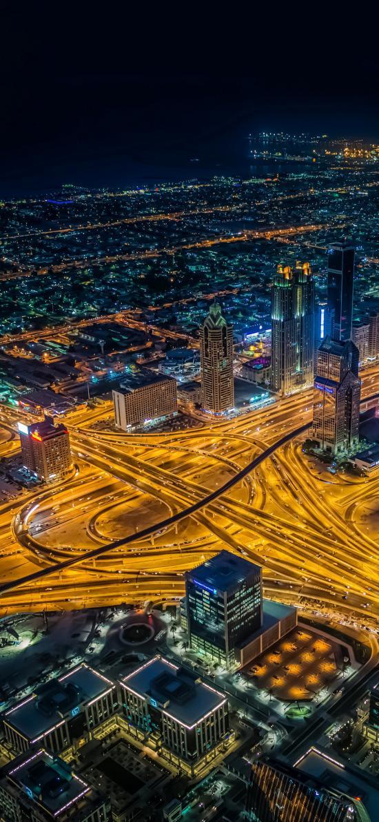 城市 夜景 都市 繁華 道路 燈光