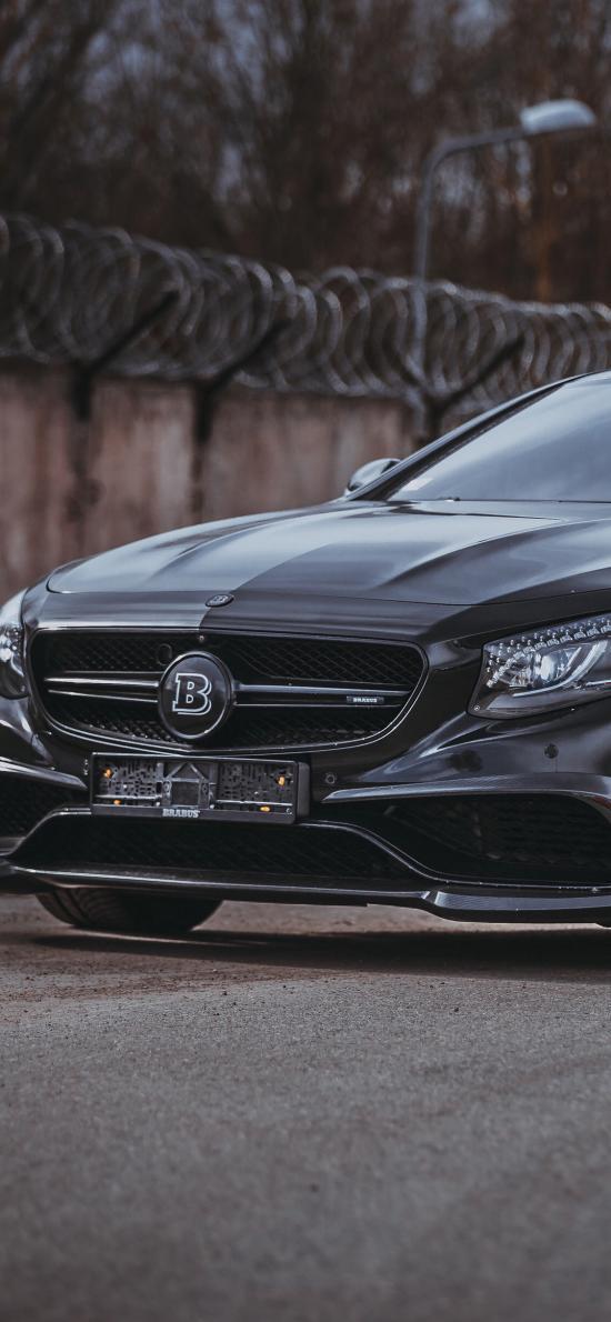 奔馳 Brabus 汽車 黑色 車頭