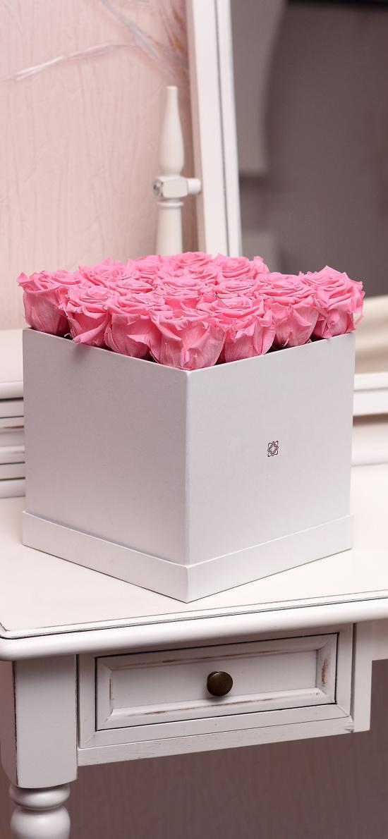 玫瑰 盒子 花盒 創意 平鋪