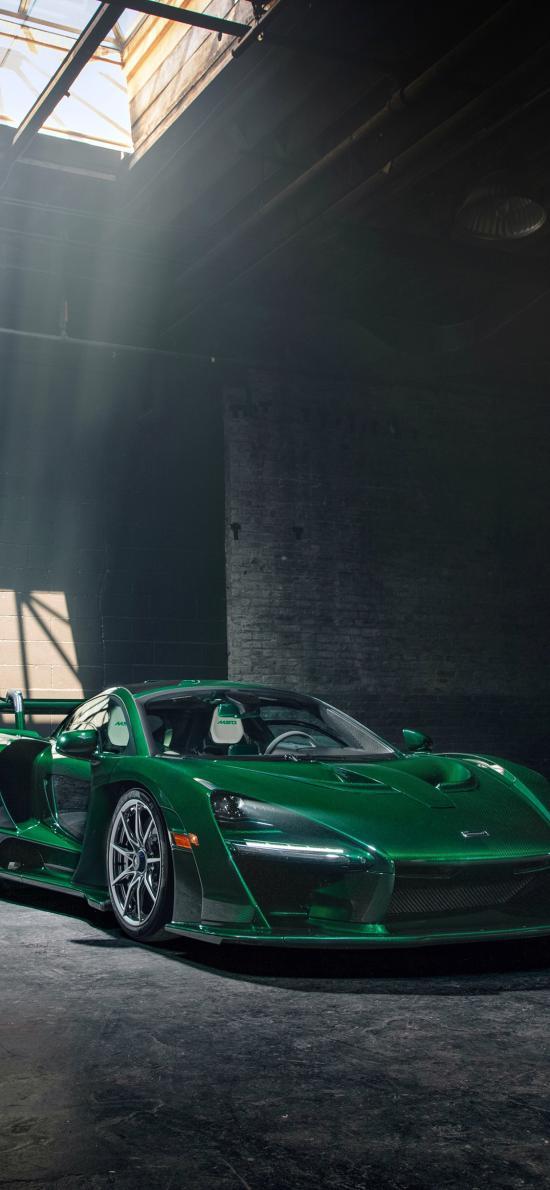 迈凯伦 超级跑车 炫酷 绿色