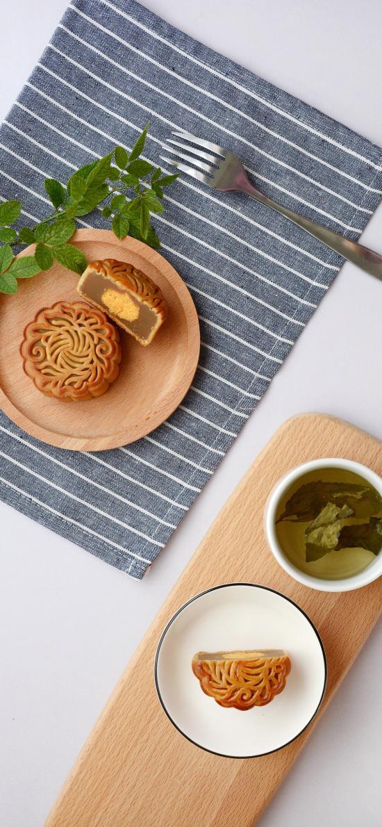餐厅 月饼 精致 茶水