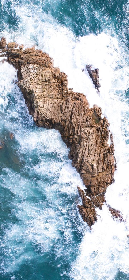 大海 岩石 浪花 壮观