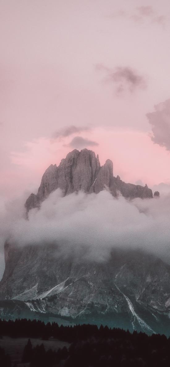 自然美景 山峰 云雾缭绕