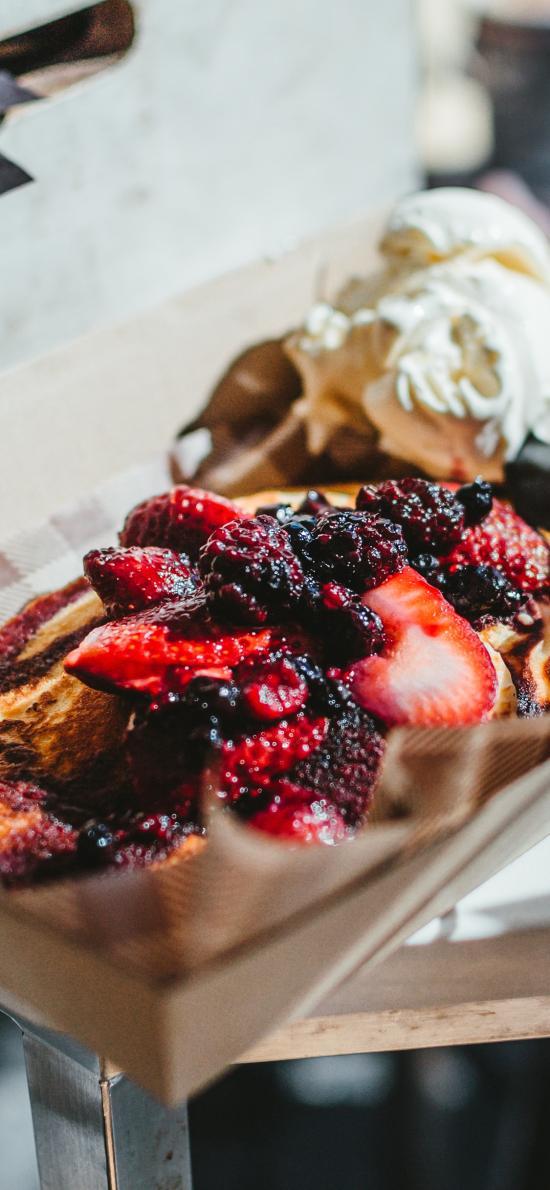 甜品 果酱 草莓 蓝莓 热量