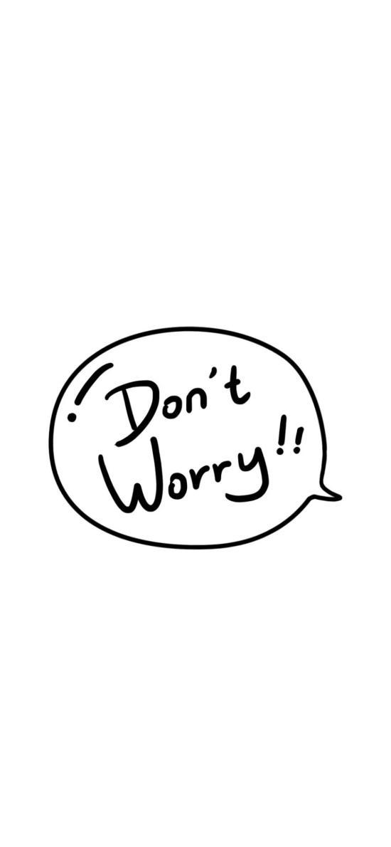 别担心 英文 don't worry 白色 气泡
