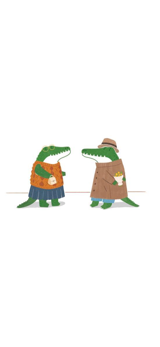 鳄鱼 插画 韩国插画师 Jae Hee
