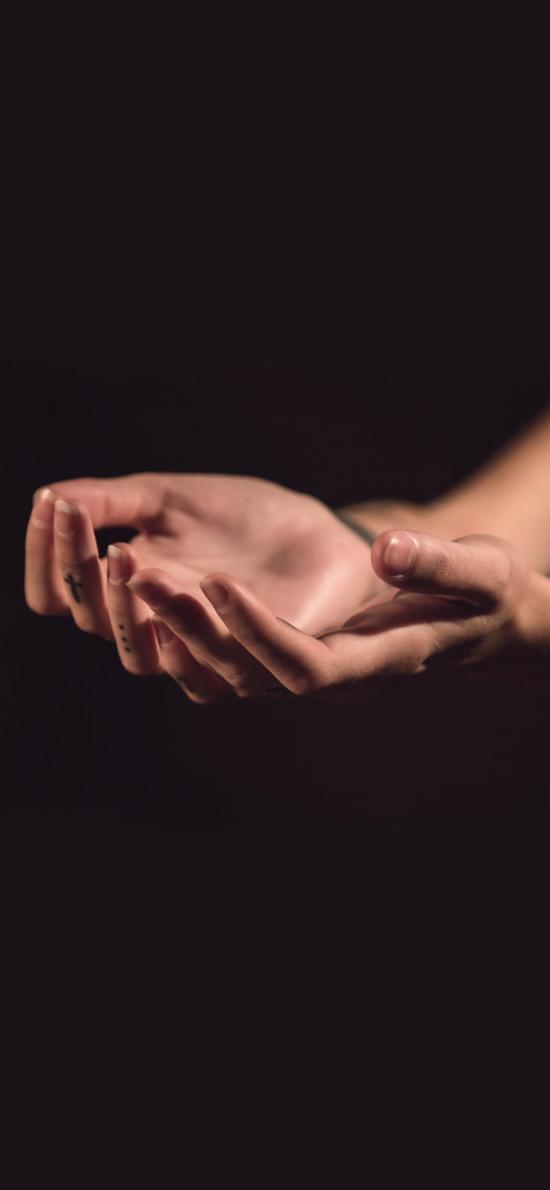 双手 手控 伸手