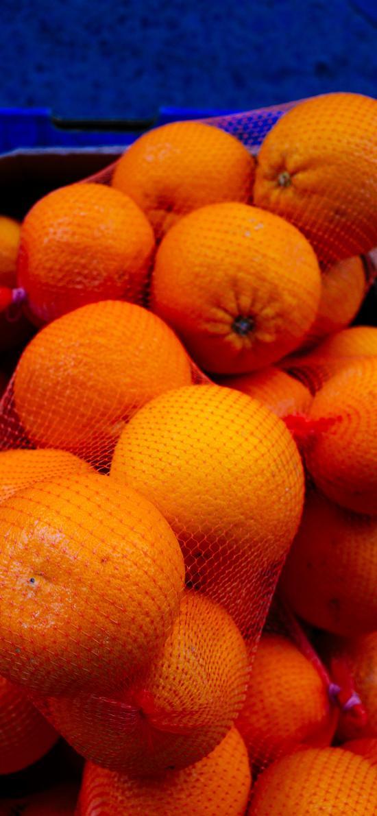水果 橙 網袋  飽滿