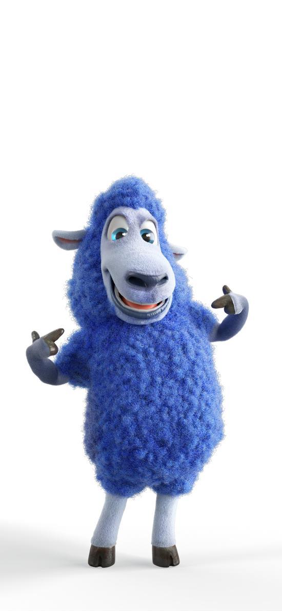 小羊 3D 蓝色 可爱