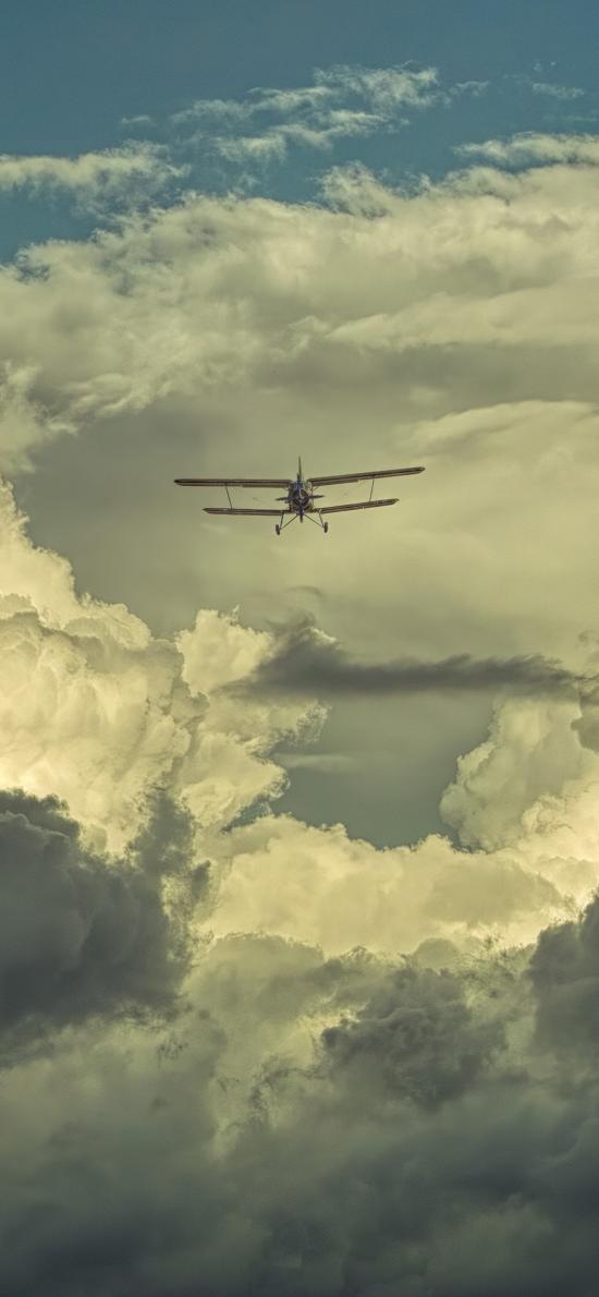 飛機 飛行 航空 云端 滑翔機