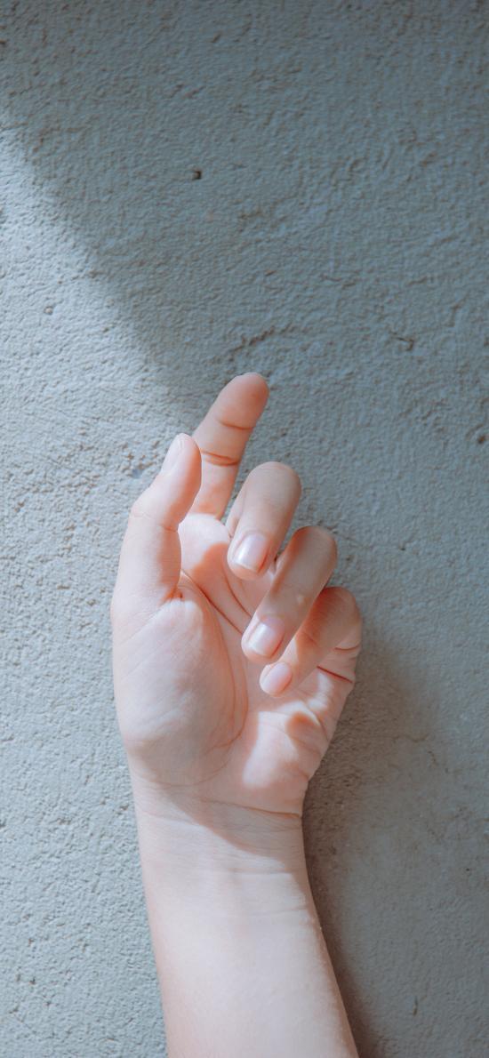 手控 光線 纖細 柔和