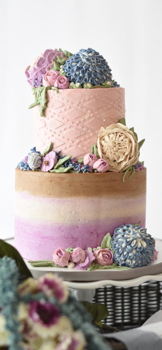 蛋糕 奶油 裱花 雙層