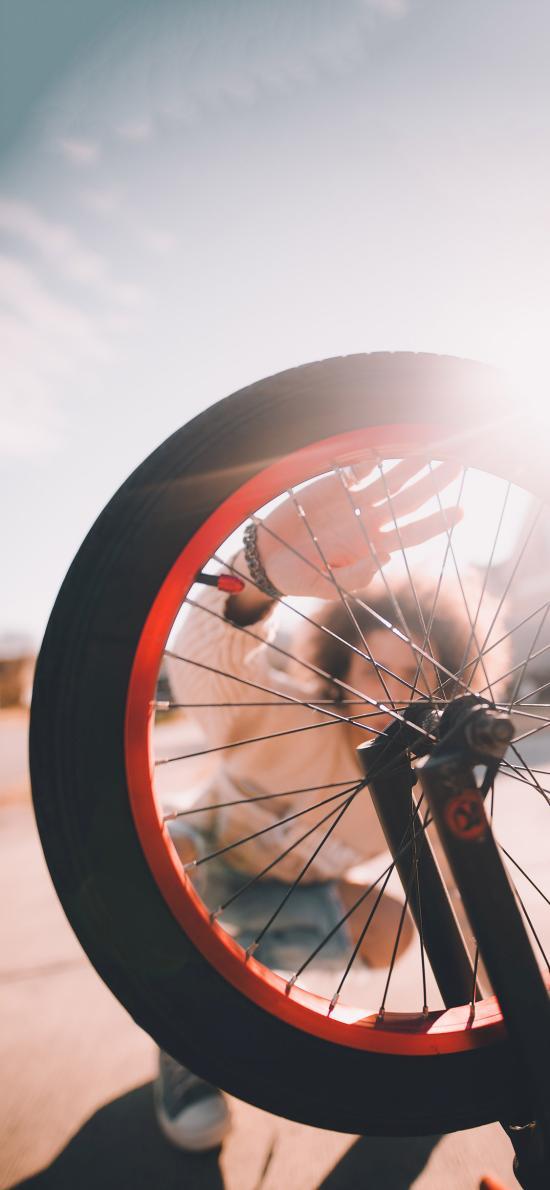 人物背景 車胎 輪胎 單車