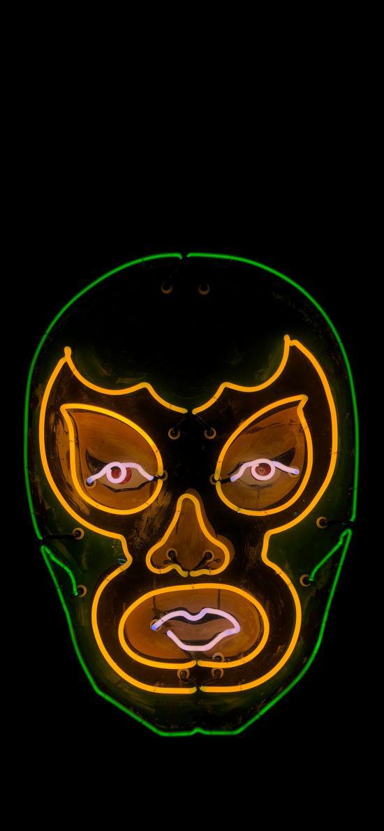 涂鴉 夜光 燈飾 面具 創意