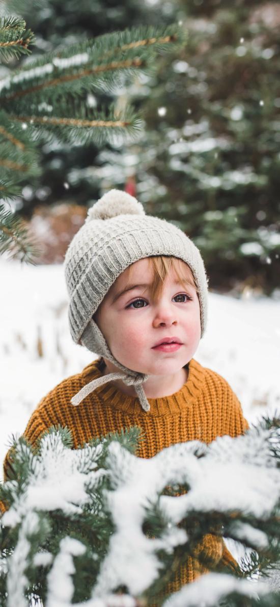 郊外 雪地 歐美 小孩 可愛