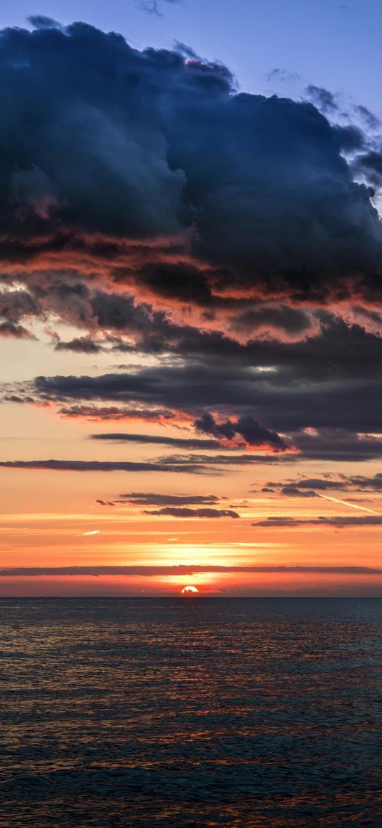 天空 夕陽 大海 美景