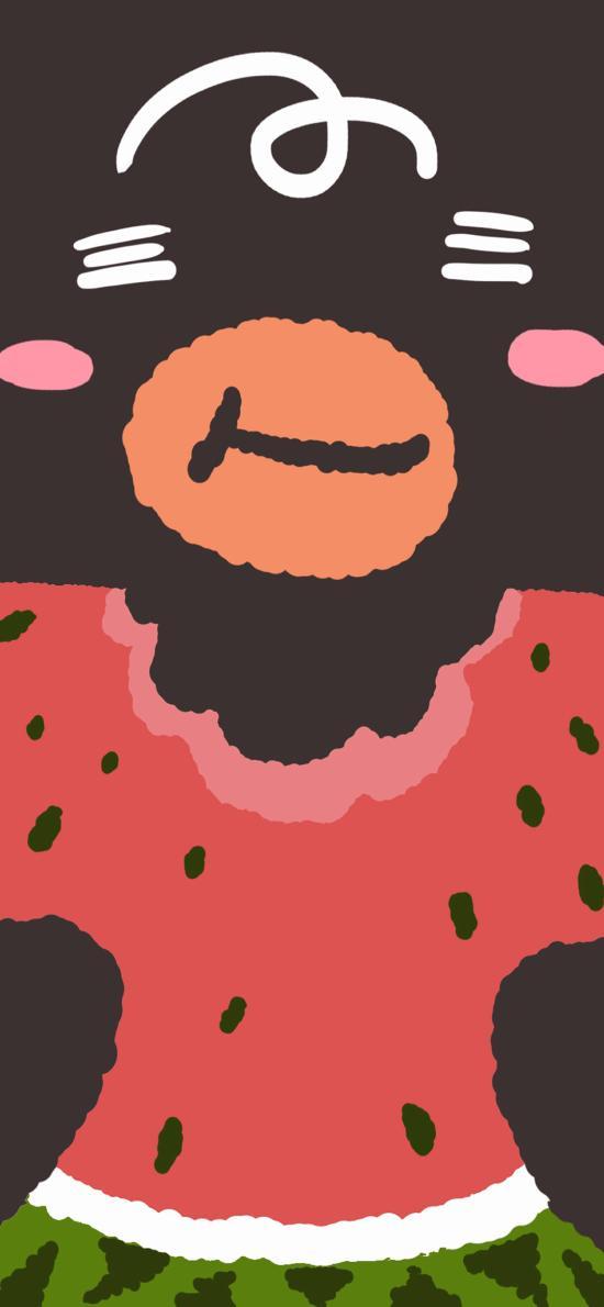 吃瓜 卡通 西瓜