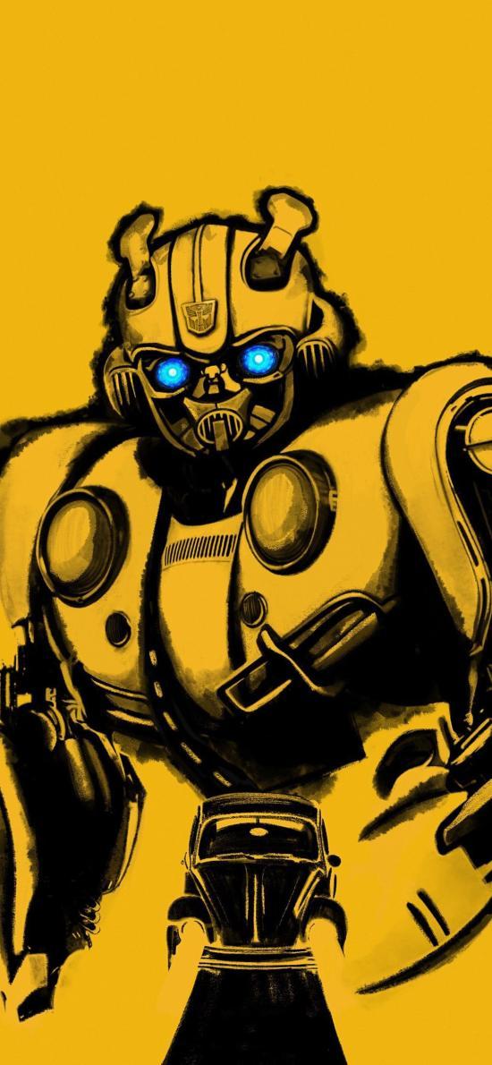 大黃蜂 電影 海報 機器人 歐美