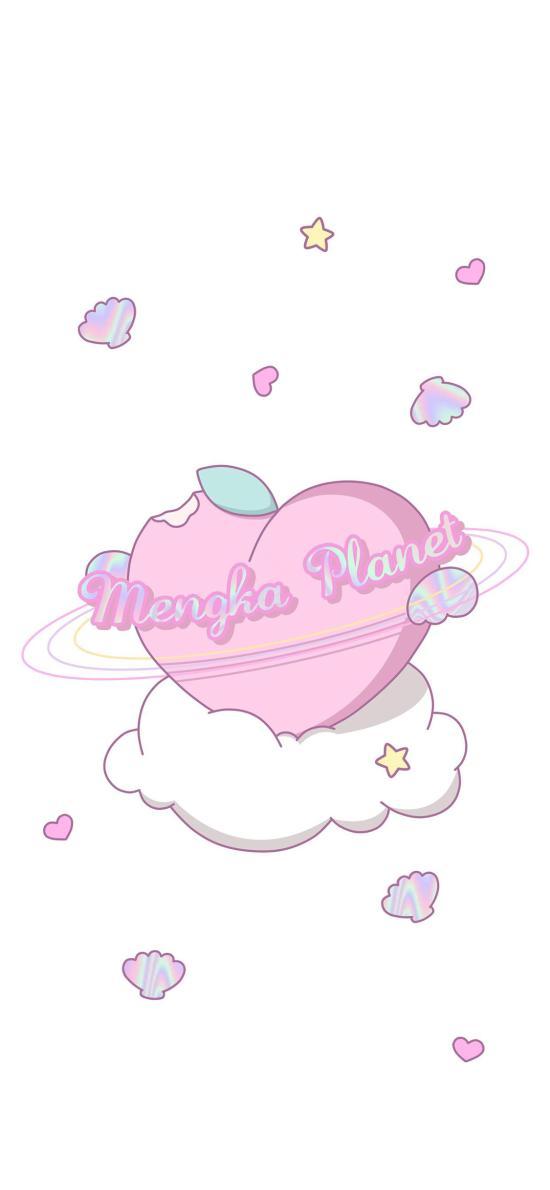 愛心 桃子 卡通 粉色 少女