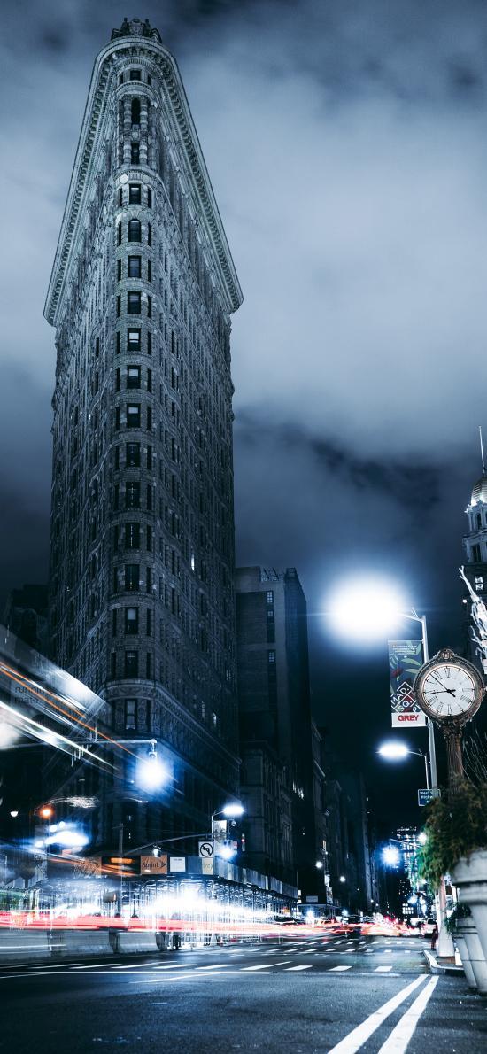 城市 夜景 歐式建筑 燈光