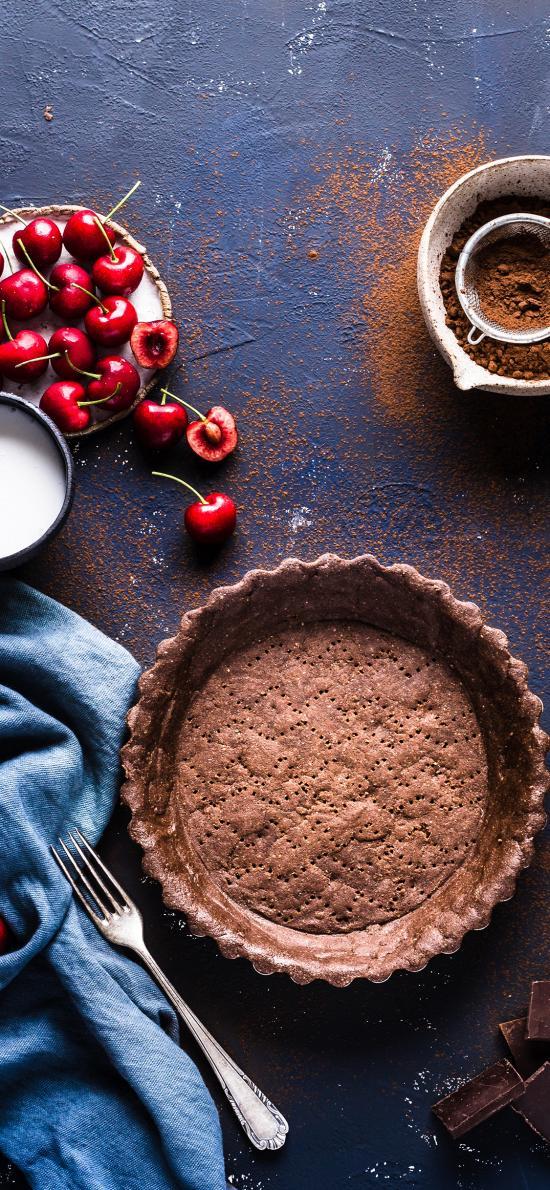 車厘子 甜品 烘烤 食材 蛋糕胚