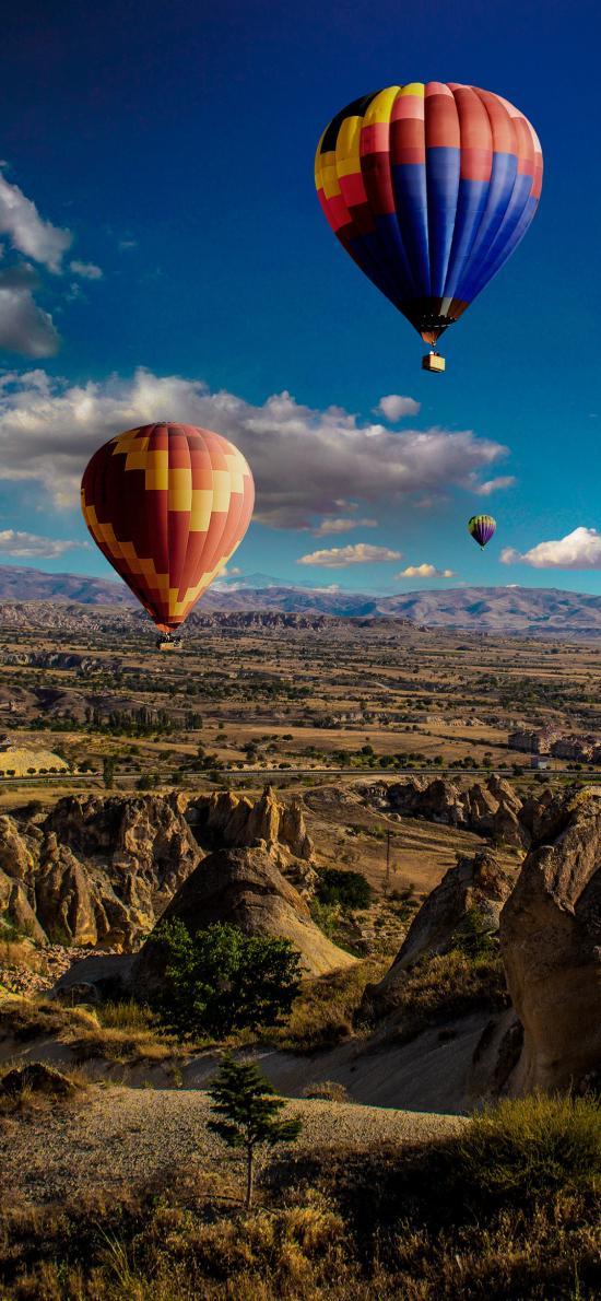 景色 天空 熱氣球 景點 地貌