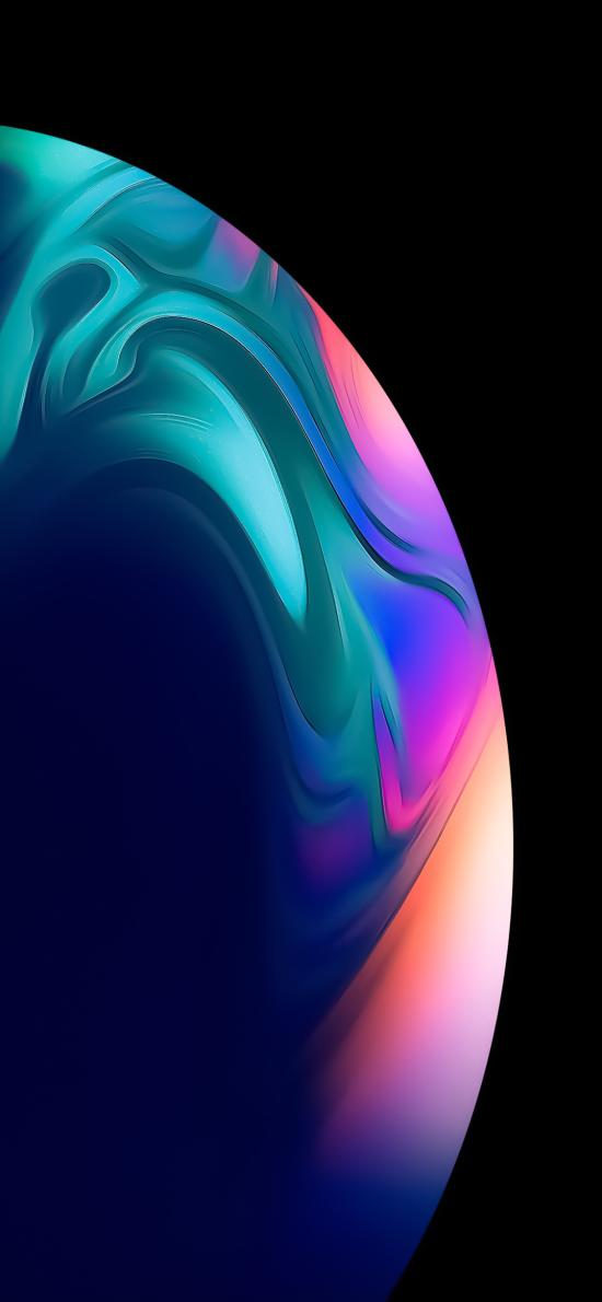 星球 色彩 黑色 弧形