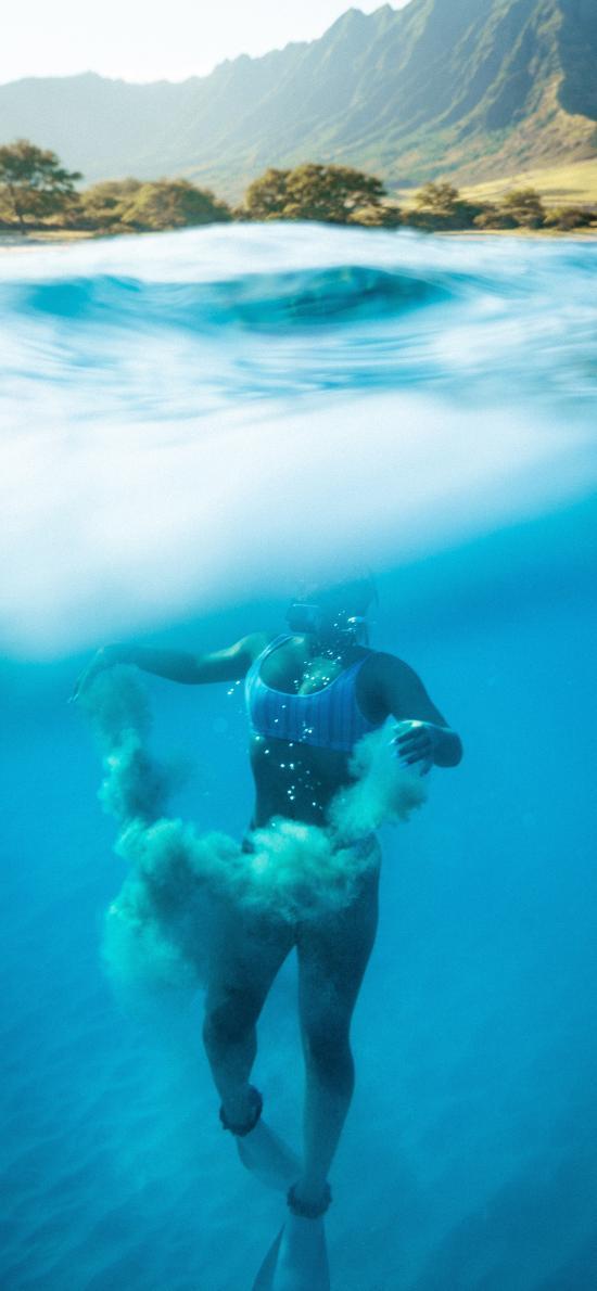 潛水 海洋 大海 運動 海水