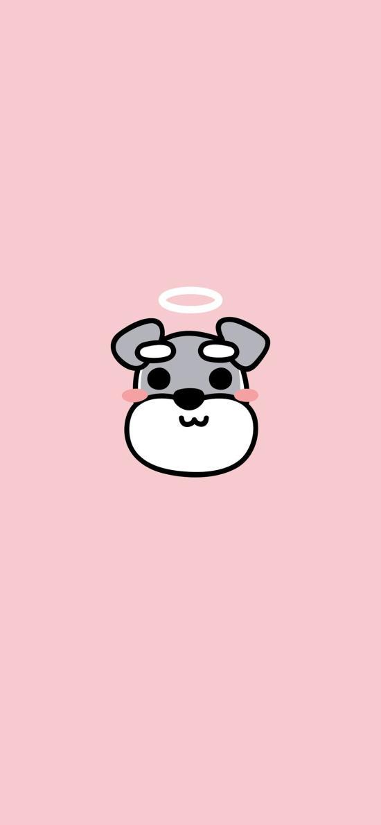 雪納瑞 狗 粉色 可愛 天使