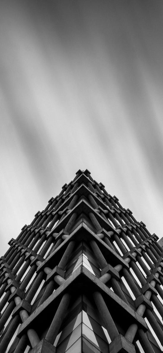 建筑 结构 设计 黑白 楼