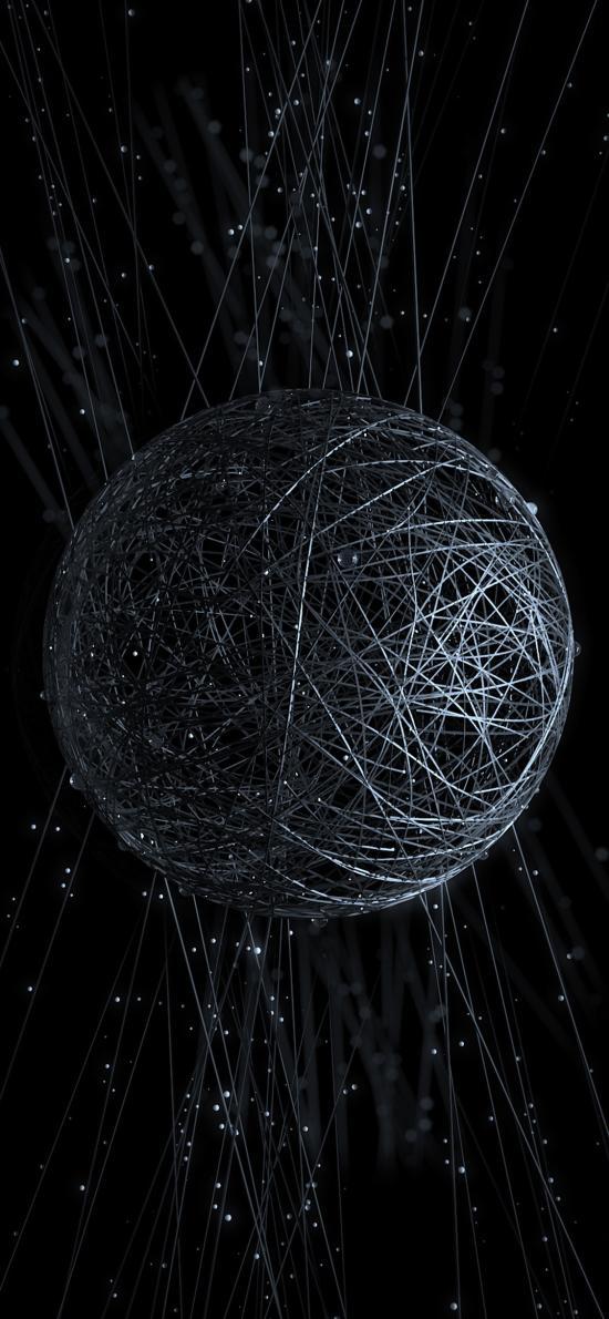 球体 线条 结构 黑白